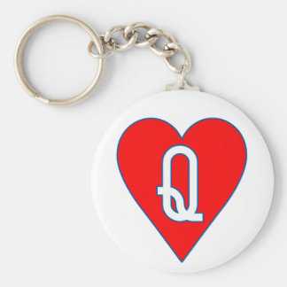 Queen of Hearts Keychain