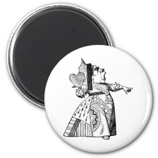 Queen of Hearts - Off with her head! 6 Cm Round Magnet