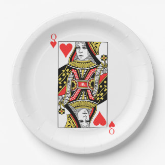 Queen of Hearts Paper Plate