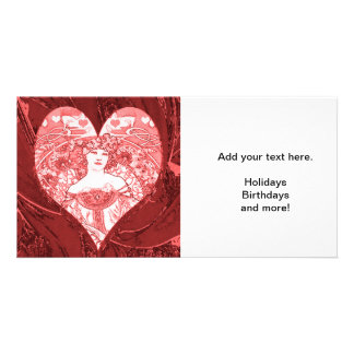 Queen of Hearts Personalised Photo Card