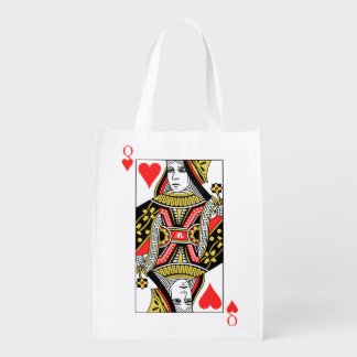 Queen of Hearts Reusable Grocery Bag