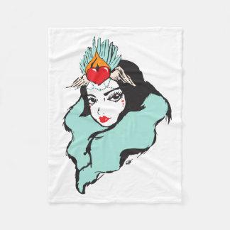 Queen of Hearts Series: Queen 1 Fleece Blanket