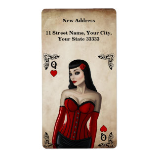 Queen of Hearts Shipping Label