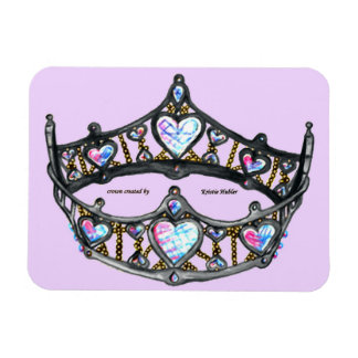 Queen of Hearts Silver Crown Tiara Pale Pink Lilac Magnet