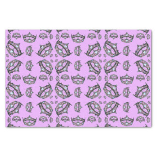 Queen of Hearts Silver Crowns Tiaras pink lilac Tissue Paper