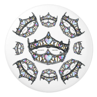Queen of Hearts Silver Crowns Tiaras white knob