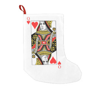 Queen of Hearts Small Christmas Stocking