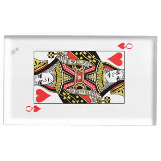 Queen of Hearts Table Number Holder
