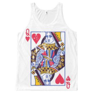 Queen of hearts tee, distressed look All-Over print singlet