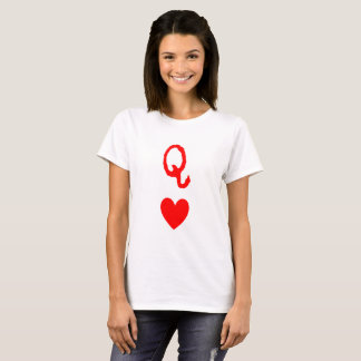 Queen of Hearts tee large print