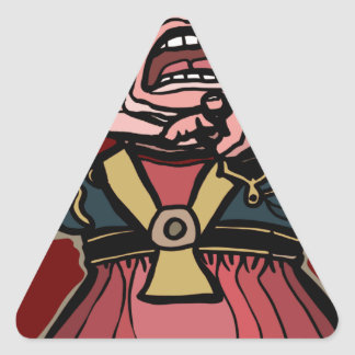 Queen of Hearts Triangle Sticker
