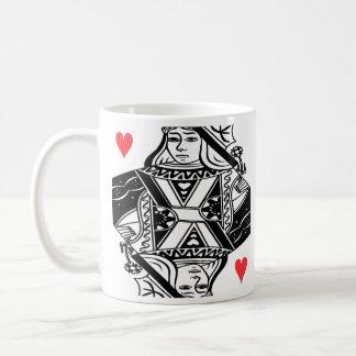 Queen of Hearts Vector Graphic Mug
