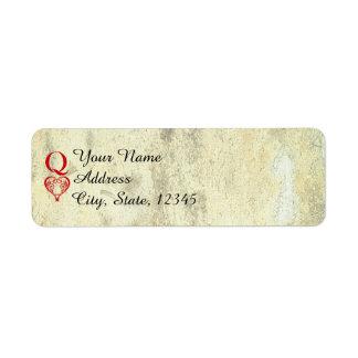 Queen of Hearts Wedding Return Address Return Address Label