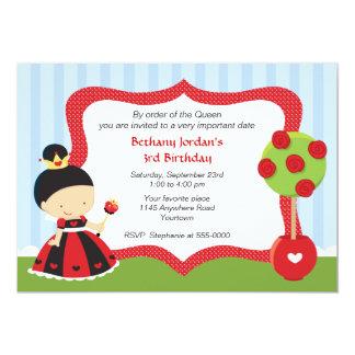 Queen of Hearts Wonderland Birthday Card