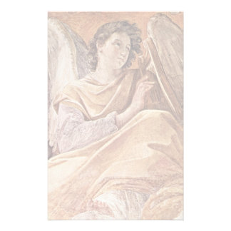 Queen Of Heaven And Detailed Musical Angels Stationery Design