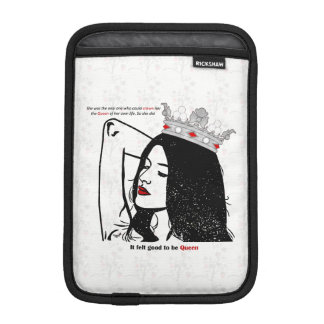 Queen Of Her Own Life iPad Mini Sleeve