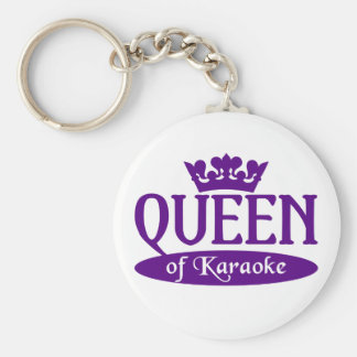 Queen of Karaoke keychain
