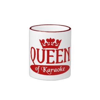 Queen of Karaoke mug - choose style & colour