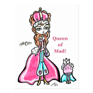 Queen of Mad 2 Postcard