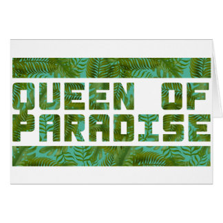 Queen of Paradise tropical print Greeting Card