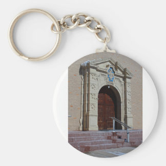 Queen of Peace Chapel Doors Basic Round Button Key Ring