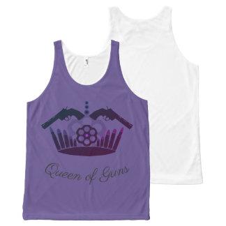 Queen of printed Guns integral tense T-shirt