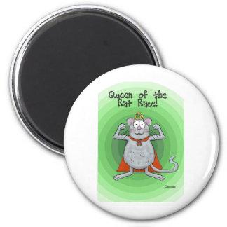 Queen of Rat Race Boss s Day Funny Humor Fridge Magnets
