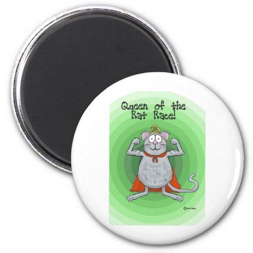 Queen of Rat Race Boss's Day Funny Humor Fridge Magnets