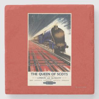 Queen of Scots Pullman Train Stone Coaster