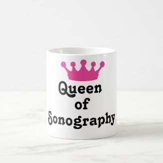 Queen of Sonography Basic White Mug
