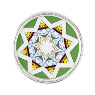 Queen of spades in a star shape lapel pin