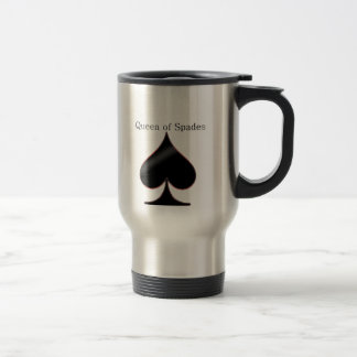 Queen of Spades Travel Cup Mugs