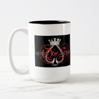 Queen Of Spades Two-Tone Coffee Mug