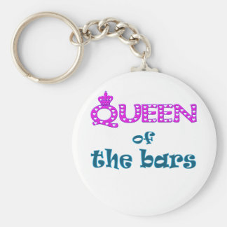 Queen of the Bars Basic Round Button Key Ring