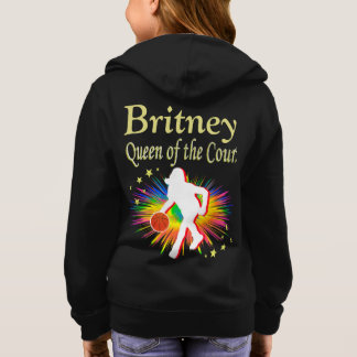 QUEEN OF THE COURT PERSONALIZED HOODIE