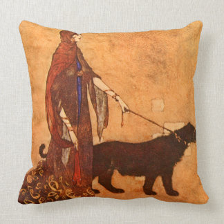Queen of the Ebony Isles Edmund Dulac Fine Art Cushion
