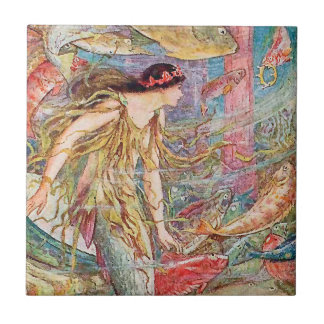 Queen of the Fishes - Orange Fairy Book Tile