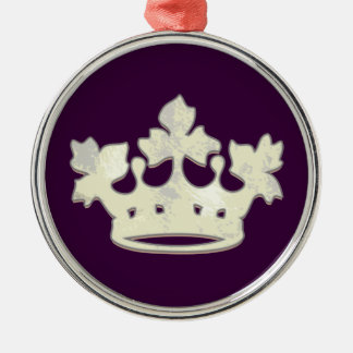Queen of the Forest Silver-Colored Round Decoration