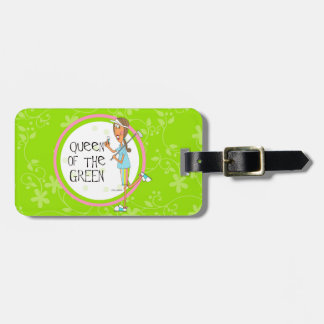 Queen of the Green Luggage Tag