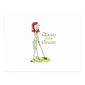 Queen Of The Green Postcard