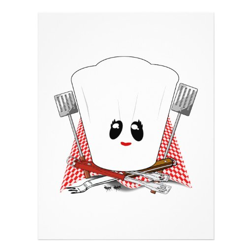 Queen of the Grill - Chef's Hat & BBQ Tools Flyers