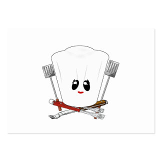 Queen of the Grill - Chef's Hat & BBQ Tools Pack Of Chubby Business Cards