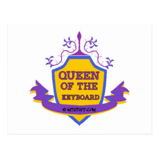 Queen of the Keyboard Postcard