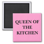 QUEEN OF THE KITCHEN SQUARE MAGNET