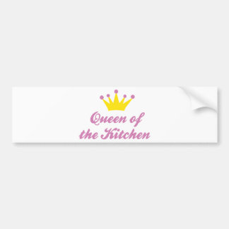 Queen OF the kitchens Bumper Stickers