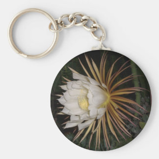 Queen Of The Night Cactus Flower Key Ring
