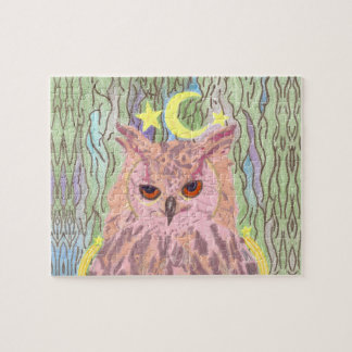 Queen of the Night Girl Owl Puzzle