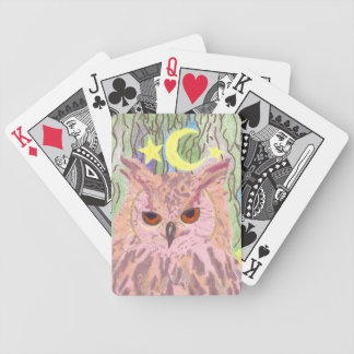 Queen of the Night Girly Owl Bicycle Cards