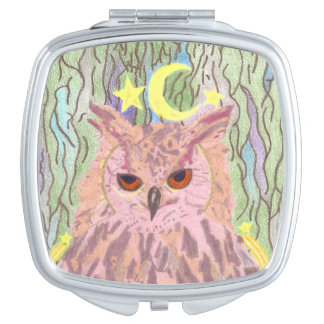 Queen of the Night Girly Owl Mirror