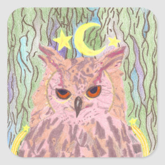 Queen of the Night Girly Owl Stickers